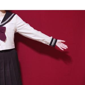 袖の作画資料写真集/セーラー服(冬)