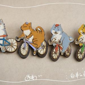 木製ブローチ 自転車