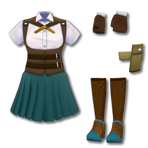 【VRoid用テクスチャ】ファンタジー服【Textures for VRoid】Fantasy Clothes
