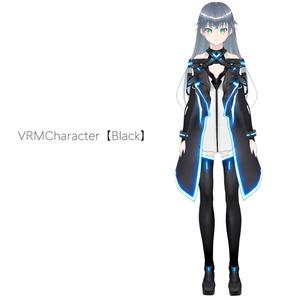 【VRoid texture 19+VRM】サイバーコート〈Black〉
