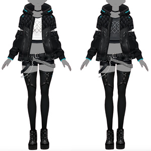 【VRoid texture 22+VRM】サイバーパンク