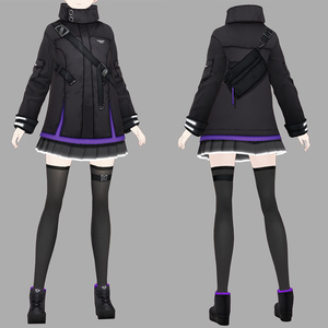 【VRoid texture+VRM 23】サイバーミリタリー第4弾