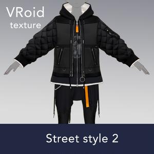 【VRoid texture 35 +VRM】ストリート系 2