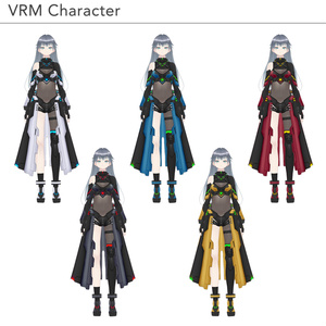 【VRoid texture 38 +VRM】サイバーミリタリー7