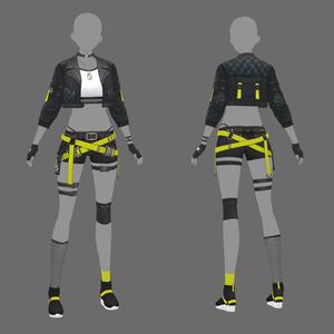 【VRoid texture 41 +VRM】サイバーパンク3