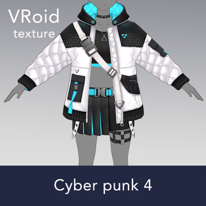 【VRoid texture 42 +VRM】サイバーパンク4