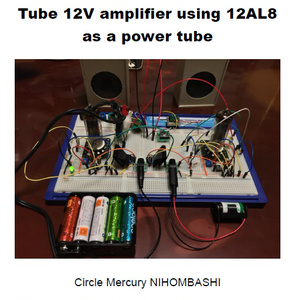 Tube 12V Amplifier using 12AL8 as a power tube