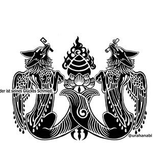羽狛狐 サコッシュ(ブラック)