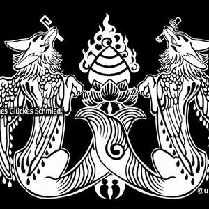 羽狛狐 サコッシュ(黒ネガ)