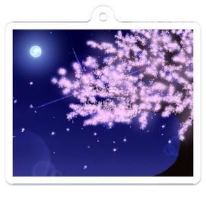 アクリルキーホルダー 夜桜
