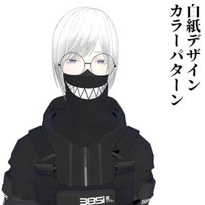 3Dモデル さくしゃ2さんデザインマスク 全7種