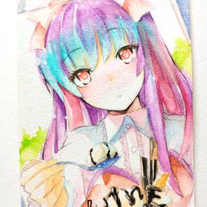 販売済み [アナログ水彩画] 想亜ちゃん・デート編