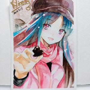 販売済み 3/17 18:00から販売 [限定2枚・アナログ水彩画] リアル夕ちゃんと、バレンタインデート