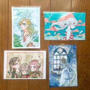 【ポストカード】固定セット(各4枚)