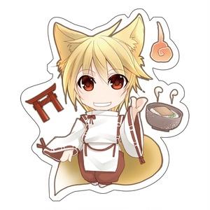 創作ステッカー【狐っ子】