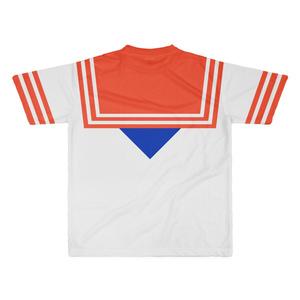 なんちゃってセーラー服 Tシャツ 赤青 XLサイズ