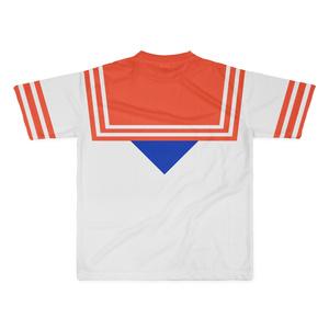 なんちゃってセーラー服 Tシャツ 赤青 Lサイズ