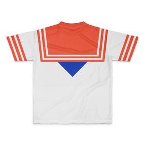 なんちゃってセーラー服 Tシャツ 赤青 Mサイズ