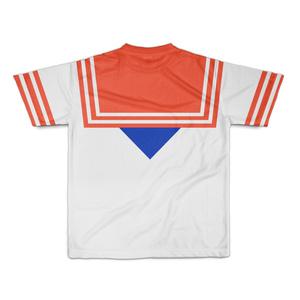 なんちゃってセーラー服 Tシャツ 赤青 Sサイズ