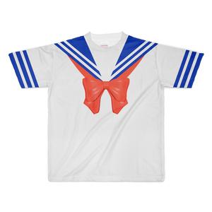 なんちゃってセーラー服 Tシャツ リボン赤 XLサイズ