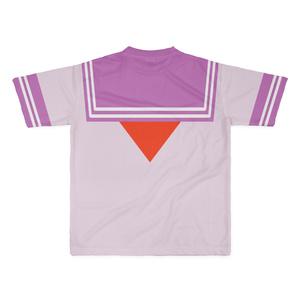 LサイズなんちゃってKIKIYOU'Sセーラー服_桃ピンク赤ネクTシャツ