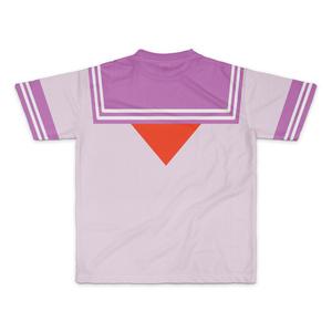 MサイズなんちゃってKIKIYOU'Sセーラー服_桃ピンク赤ネクTシャツ