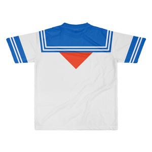 XLサイズなんちゃってKIKIYOU'Sセーラー服_白青赤蝶_Tシャツ