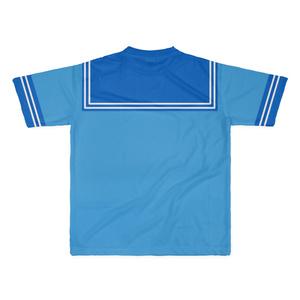 LサイズなんちゃってKIKIYOU'Sセーラー風ジャケット水青紺ネク_Tシャツ