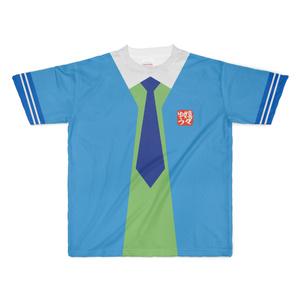 XLサイズなんちゃってKIKIYOU'Sセーラー風ジャケット水青紺ネク_Tシャツ