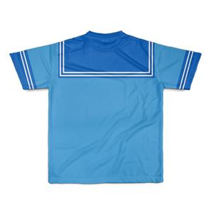 SサイズなんちゃってKIKIYOU'Sセーラー風ジャケット水青紺ネク_Tシャツ