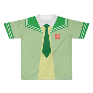 XLサイズなんちゃってKIKIYOU'Sセーラー風ジャケット黄緑+緑緑ネク_Tシャツ