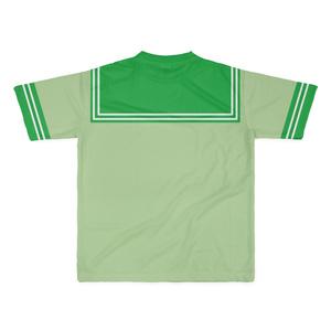 LサイズなんちゃってKIKIYOU'Sセーラー風ジャケット黄緑+緑緑ネク_Tシャツ
