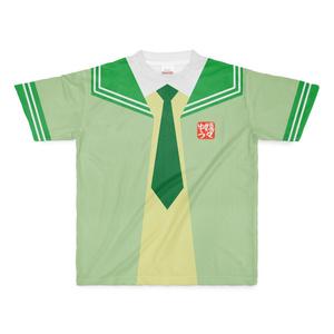 MサイズなんちゃってKIKIYOU'Sセーラー風ジャケット黄緑+緑緑ネク_Tシャツ