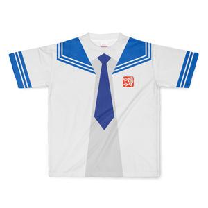 LサイズなんちゃってKIKIYOU'Sセーラー風ジャケット白灰青ネク_Tシャツ