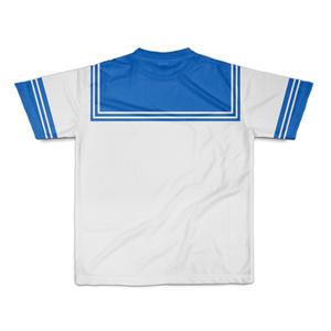 SサイズなんちゃってKIKIYOU'Sセーラー風ジャケット白灰青ネク_Tシャツ