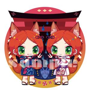 2winkお狐アクキー