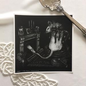 正方形カード「来訪者」