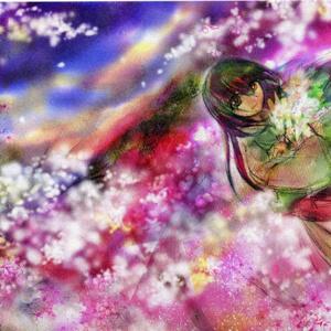 ポストカード「桜色の夕暮れ」
