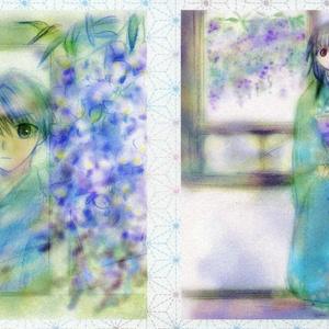 ポストカード「窓辺の藤」