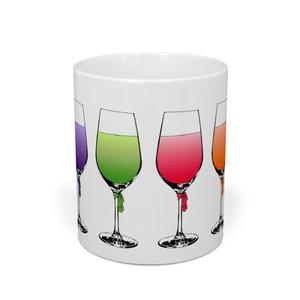 グラス(青・紫・緑・赤・橙・黄)