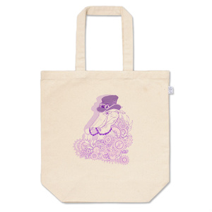 歯車とハシビロコウ(紫)