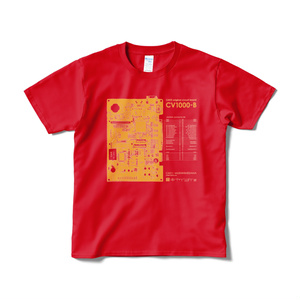 「CV1000-B」Tシャツ(レッド)