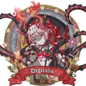 ジギタリス(黒罪編)プルパーカー【ゴシックは魔法乙女】