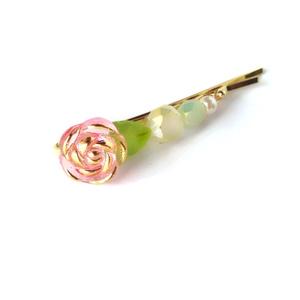 懐憶の薔薇のヘアピン