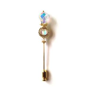虹の宝石の杖ハットピン