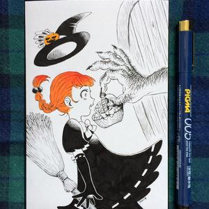 【原画販売】ハロウィンカードA