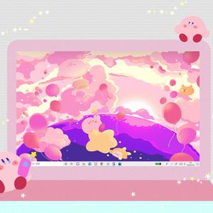 カービィさん01【PC iPad等 デジタル壁紙】
