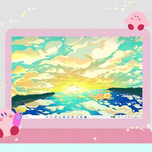 カービィさん02【PC iPad等 デジタル壁紙】