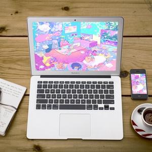 ほんわかポップアート01【PC iPad等 デジタル壁紙】