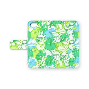 うさ虫 手帳型iPhoneケース(木を隠すなら森ver.)